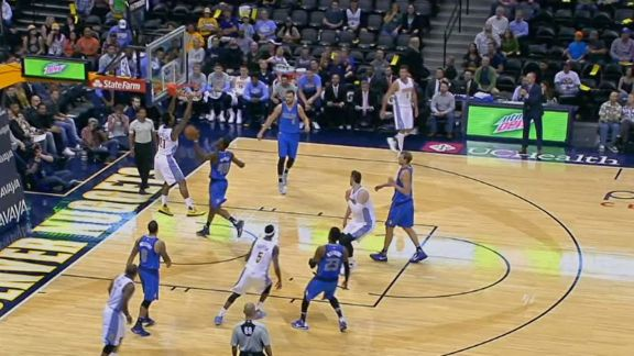 Will Barton Feeds Wilson Chandler for Dunk