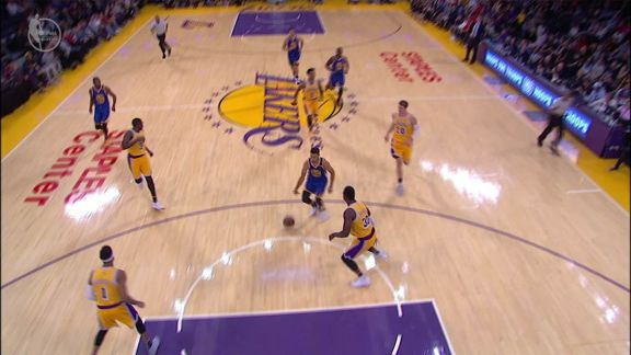 Curry Gets The Floating Layup To Go