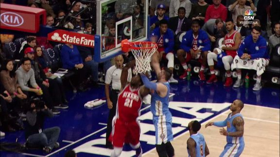 Nurkic Gets the Best of Embiid