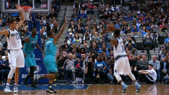 Gibson Drains the Triple, Plus the Foul