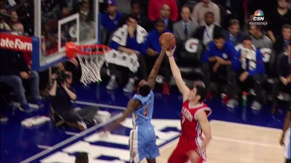 Barton Swats It Out of Bounds