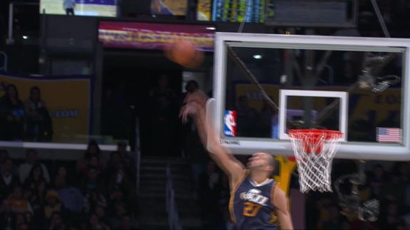 Gobert Protects the Rim