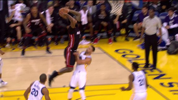 Johnson Ends 1st With Vicious Dunk on Curry