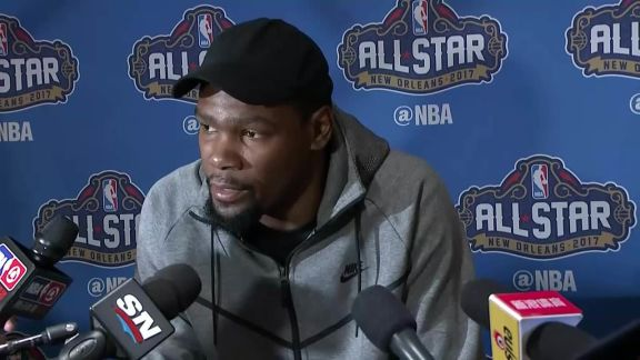 Durant Talks to the Media