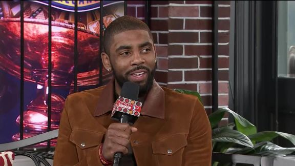 Irving Talks To NBA TV Crew