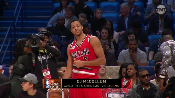 2017 JBL Three-Point Contest: C.J. McCollum, Round 1