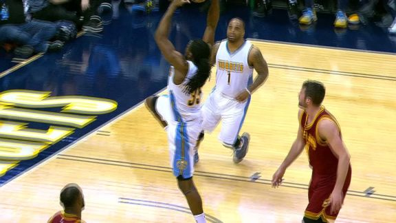 Kenneth Faried One-Handed Slam
