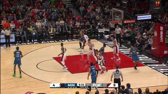 Towns Finishes In The Paint
