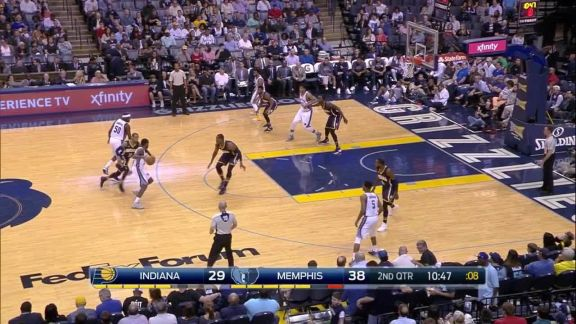 Conley Beats the Shot Clock