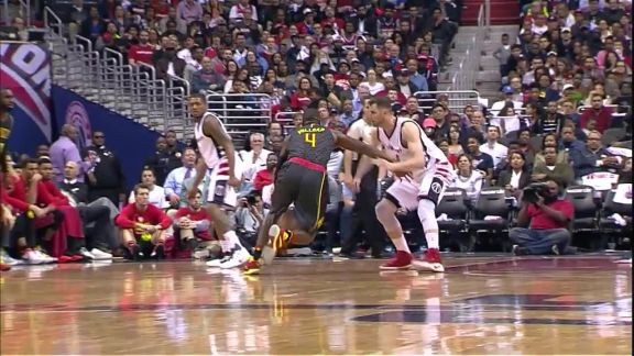 Millsap Absorbs Contact For And-1