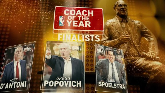 2017 NBA Awards: Coach of the Year Nominees