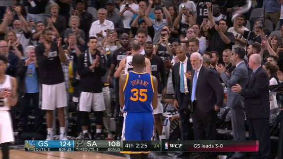 Ginobili Receives Standing Ovation