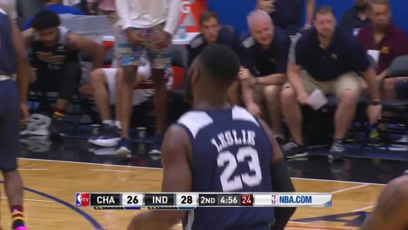Leslie Scores 20 Off The Bench