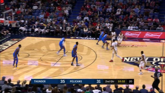 Allen Finishes With A Layup