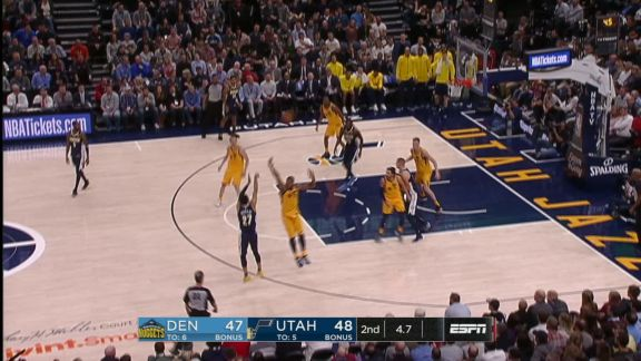 Faried At The Halftime Buzzer