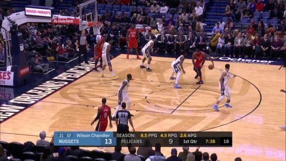 Murray To Faried For The Dunk