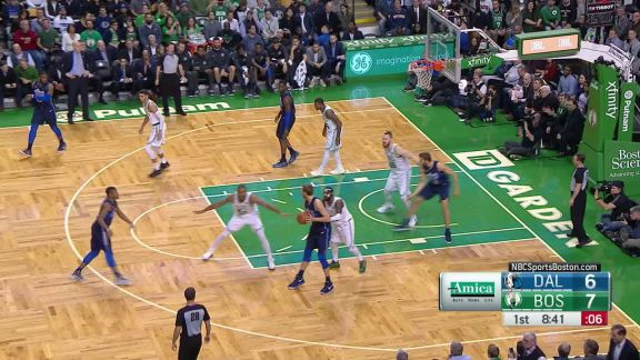 Horford Block At The Top Of The Key