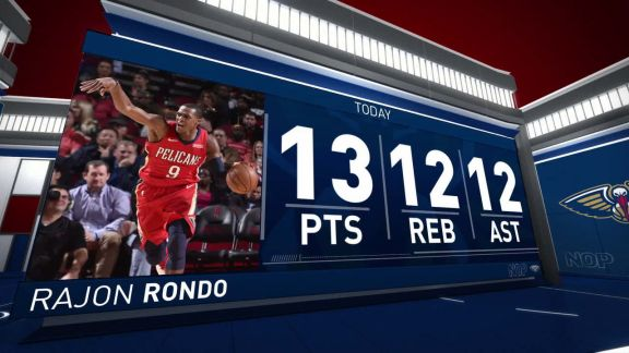 Rajon Rondo Notches Triple-Double vs. Rockets | December 11, 2017