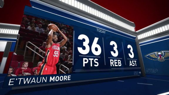 E'Twaun Moore Scores 36 vs. Rockets | December 11, 2017