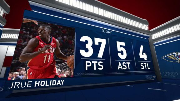 Jrue Holiday Scores 37 vs. Rockets | December 11, 2017