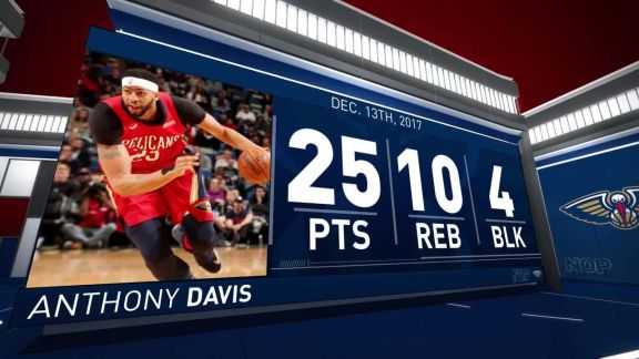 Anthony Davis Scores 25 in Big Win Vs. Bucks