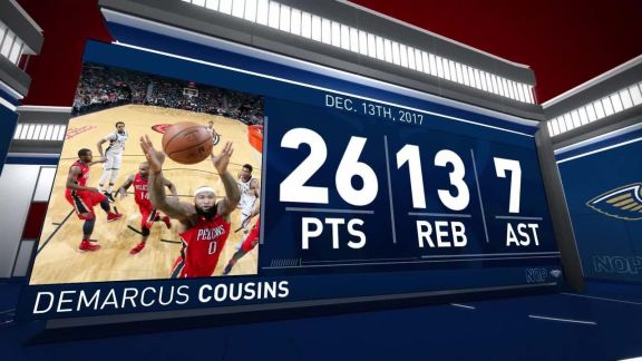 DeMarcus Cousins Scores 26 In Big Win vs. Bucks