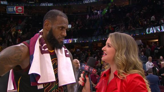 LeBron Postgame Interview with TNT
