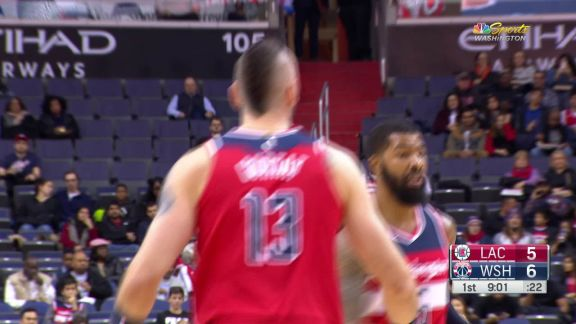 Gortat Hits The Hook Shot