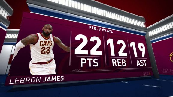 LeBron James Records Triple-Double In Win Vs. Hawks | February 8th, 2018