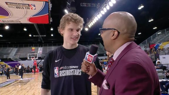 Rising Stars Practice: Lauri Markkanen Interview