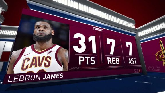 LeBron James Scores 31 In Win Vs. Pistons