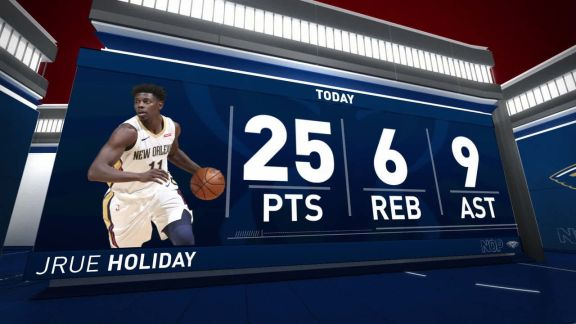 Holiday Scores 25 In Win Over Hornets
