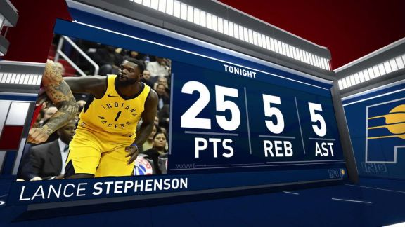 Lance Stephenson Scores 25 vs. Wizards | March 17, 2018