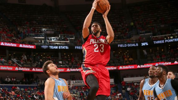 Anthony Davis Stuffs the Stat Sheet