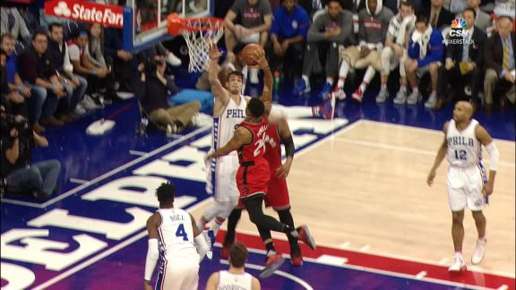 Saric Blocks Two in a Row