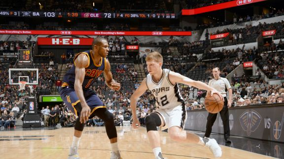 GAME RECAP: Spurs 103, Cavaliers 74