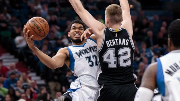 Karl-Anthony Towns Tallies Up Double-Double