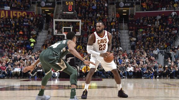 James Tallies 30 in Victory over Milwaukee