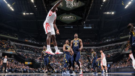 GAME RECAP: Rockets 118, Pacers 95