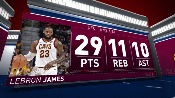 LeBron James Scores 29 vs. Jazz