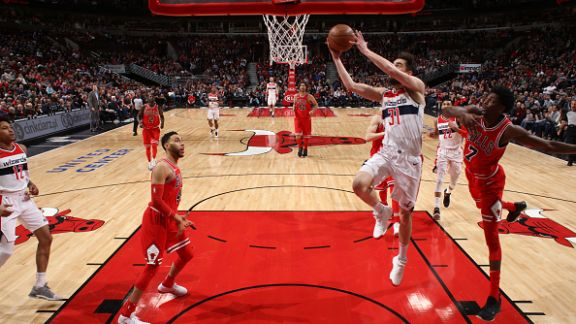 GAME RECAP: Wizards 101, Bulls 90